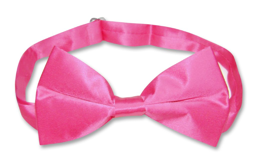 Hot Pink Fuchsia Mens Bowtie | Biagio 100% Silk Solid Color Bow Tie