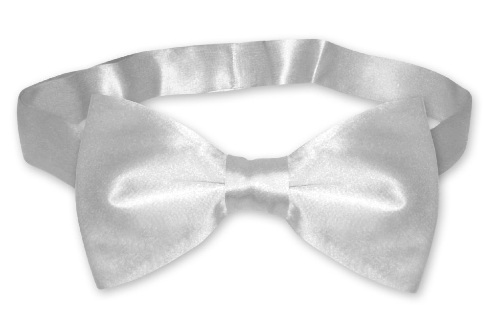 b1a00f737b02 Silver Gray Mens Bowtie | Biagio Silk Pre Tied Solid Color Bow Tie