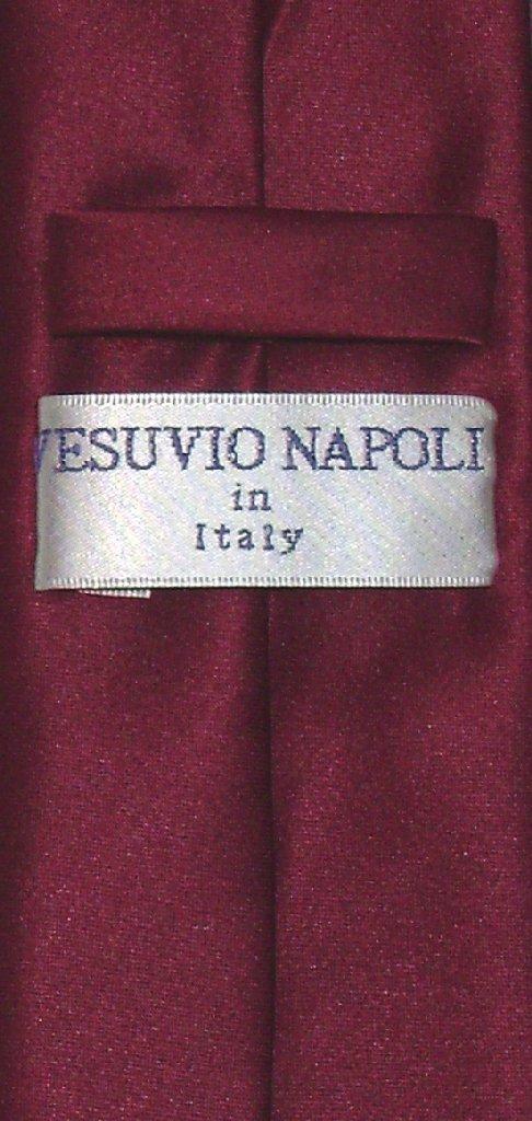 Vesuvio Napoli Narrow NeckTie Skinny Burgundy Color Mens Neck Tie