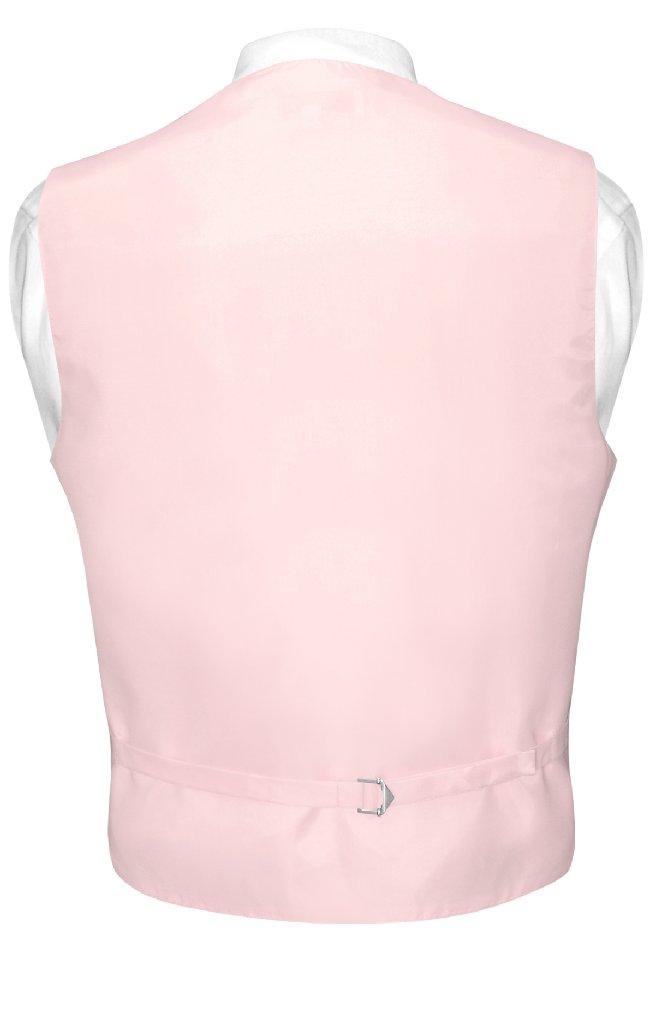 Mens Dress Vest BowTie Pink Horizontal Stripe Bow Tie Woven Design Set