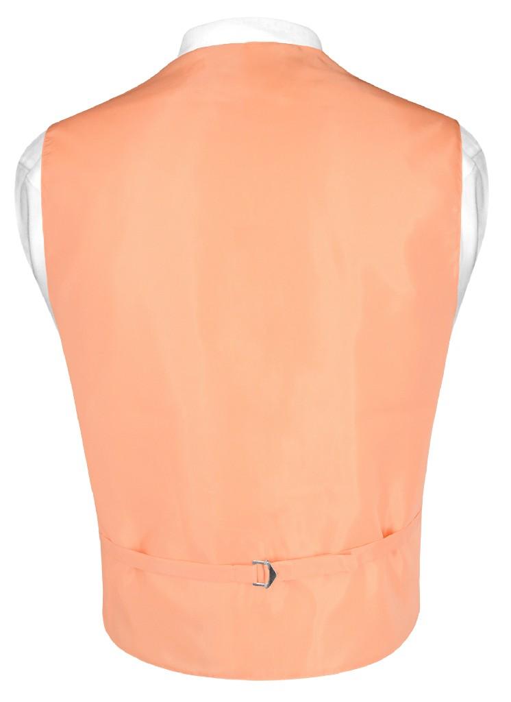 1effb7e0b213 Mens Dress Vest & BowTie Solid Peach Color Bow Tie Set