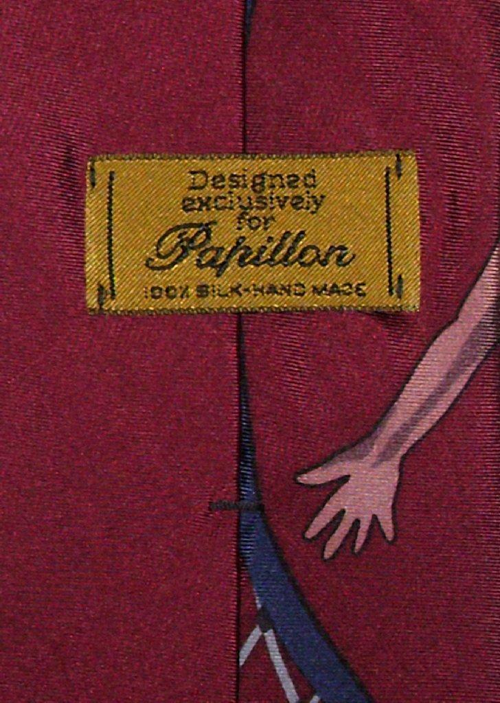 Papillon 100% Silk NeckTie Basketball Design Mens Neck Tie #101-2