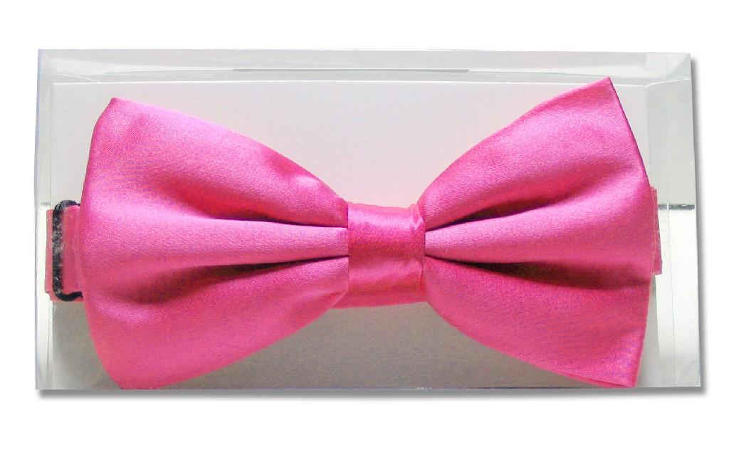Solid Hot Pink Fuchsia Mens BowTie | Mens Silk Pre Tied Bow Ties