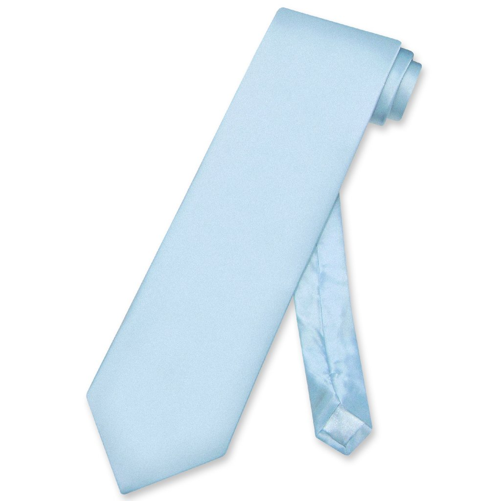 Biagio Men's SILK Dress Vest & NeckTie Solid BABY BLUE Color Neck Tie Set