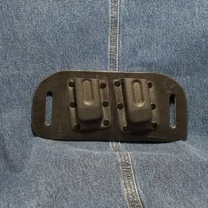 MC0016 CrossBreed OWB Mag Carrier GLOCK 42 / Dual / Left Side Carry / Black Cow