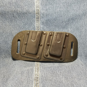 MC0048 CrossBreed OWB Mag Carrier SMITH & WESSON SHIELD 9/40 / Right Side Carry / Black Cow