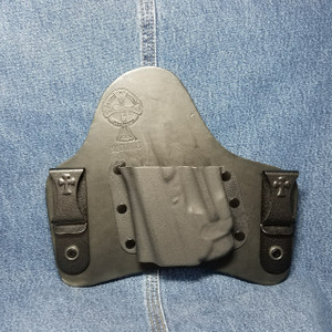 13720 CrossBreed SuperTuck GLOCK 43 with LaserMax GripSense / Left Hand / Black Cow