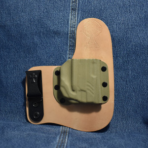 14315 CrossBreed Freedom Carry RUGER LCP II with Lasermax Gripsense Laser / Right Hand / Horse / Flat Dark Earth Pocket