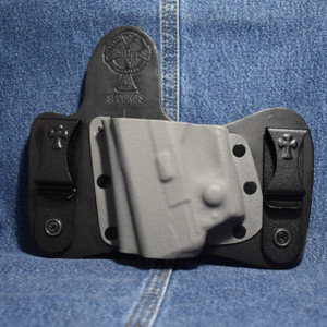 14434 CrossBreed MiniTuck SPRINGFIELD XDS with VIRIDIAN R5 ECR REACTOR / Left Hand / Black Cow / Sniper Gray Pocket