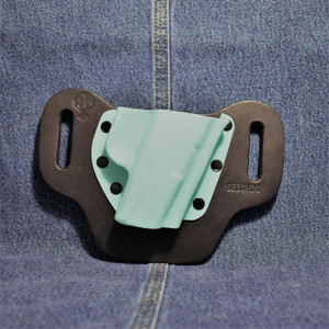 14536 CrossBreed DropSlide SCCY / Right Hand / Black Cow / Tiffany Blue Pocket