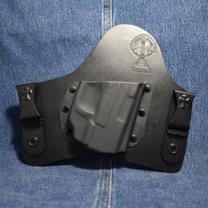 14605 CrossBreed SuperTuck SPRINGFIELD XDS with CRIMSON TRACE LG-469G / Right Hand / Black Cow