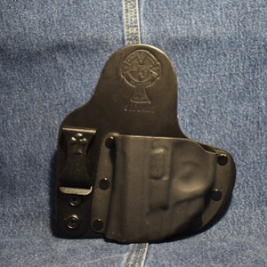 14740 CrossBreed Appendix Carry SMITH & WESSON SHIELD 9/40 with CRIMSON TRACE LG-489 / Left Hand / Black Cow