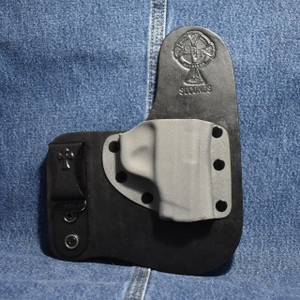 14752 CrossBreed Freedom Carry SMITH & WESSON BODYGUARD 380 NO LASER / Right Hand / Black Cow / Sniper Gray Pocket