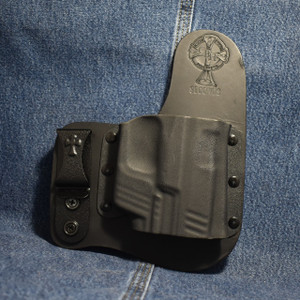14818 CrossBreed Freedom Carry SPRINGFIELD XDM with CRIMSON TRACE LG-453 / LTG-746 / Right Hand / Black Cow