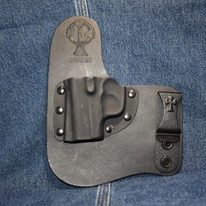 14826 CrossBreed Freedom Carry KAHR P/CW/CT 380 / Left Hand / Black Cow