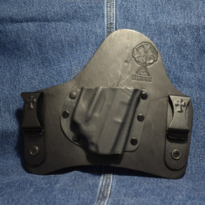 14843 CrossBreed SuperTuck SIG P238 with SIG LIMA 38 LASER / Right Hand / Black Cow
