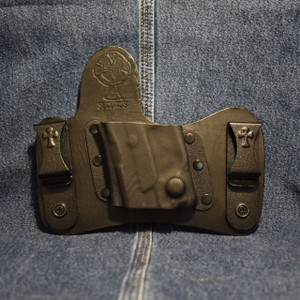 14905 CrossBreed MiniTuck RUGER LCP II with VIRIDIAN R5 ECR REACTOR / Left Hand / Black Cow