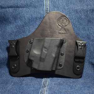 14920 CrossBreed SuperTuck GLOCK 26 with CRIMSON TRACE LG-436 / Right Hand / Black Cow