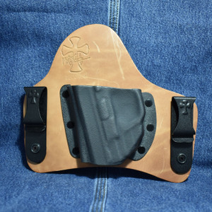 14956 CrossBreed SuperTuck SMITH & WESSON SHIELD 9/40 with CRIMSON TRACE LG-489 / Left Hand / Founders Series