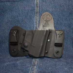 14987 CrossBreed MiniTuck SPRINGFIELD XDS with VIRIDIAN R5 ECR REACTOR / Right Hand / Black Cow
