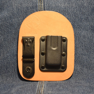 MC0176 CrossBreed IWB Mag Carrier SINGLE STACK 9 COMPACT / Right Side Carry / Premium Hardrolled Cow