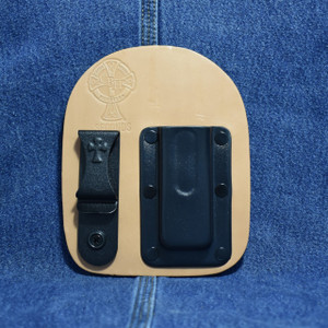 MC0178 CrossBreed IWB Mag Carrier SINGLE STACK 9 / Right Side Carry / Premium Hardrolled Cow