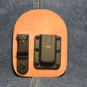 MC0189 CrossBreed IWB Mag Carrier SINGLE STACK 9 COMPACT / Right Side Carry / Horse