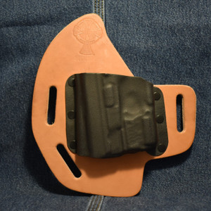 15058 CrossBreed SuperSlide SMITH & WESSON SHIELD 9/40 with CRIMSON TRACE LL-801 / Left Hand Hand / Premium Hardrolled Cow