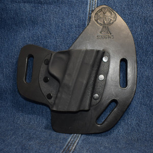 15065 CrossBreed SuperSlide SMITH & WESSON SHIELD 380 EZ / Right Hand / Black Cow / Combat Cut