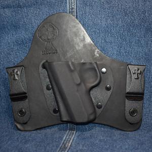 """15087 CrossBreed SuperTuck 3"""" 1911 NO RAIL / Left Hand / Black Cow"""