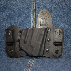 15089 CrossBreed MiniTuck SMITH & WESSON SHIELD 9/40 with LASERLYTE LASER / Right Hand / Black Cow