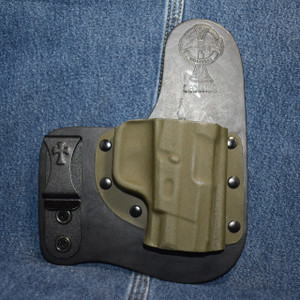 15158 CrossBreed Freedom Carry TAURUS 24/7 G2 / Right Hand / Black Cow / Olive Drab Green Pocket