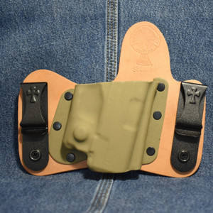 15289 CrossBreed MiniTuck SPRINGFIELD XDS with VIRIDIAN R5 REACTOR / Right Hand / Horse / Flat Dark Earth Pocket