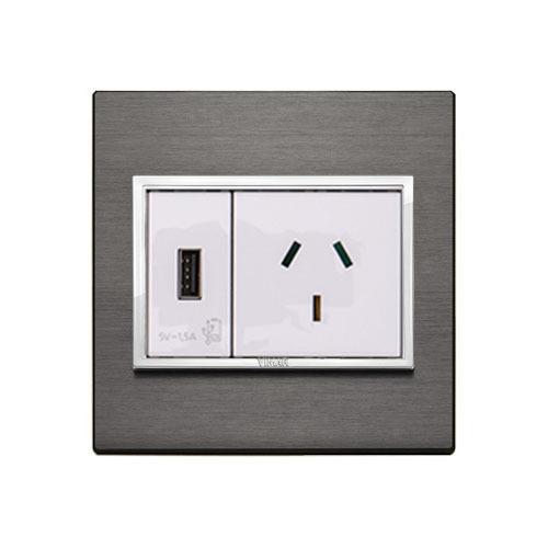 Single Socket + 1 USB