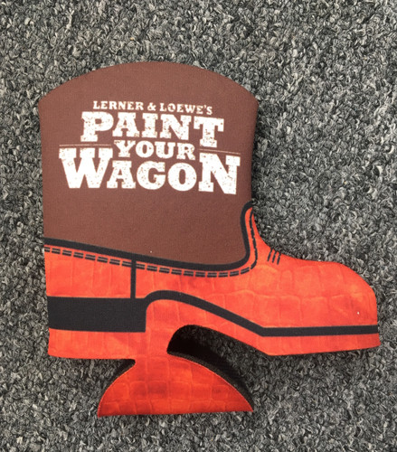 Paint Your Wagon Cowboy Boot Beer Cozy