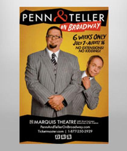Penn & Teller Poster