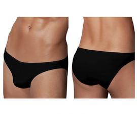 1281-BLK Doreanse Men's Hang-loose Bikini Brief Color Black