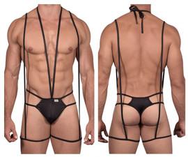 99470 CandyMan Men's Bodysuit Thong Color Black