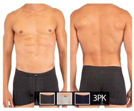 250709 Rico Men's 3PK Boxer Briefs Color Black-Gray