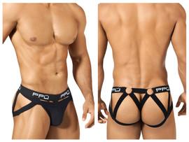 1305 PPU Men's Multi-Strap Jockstrap Color Black
