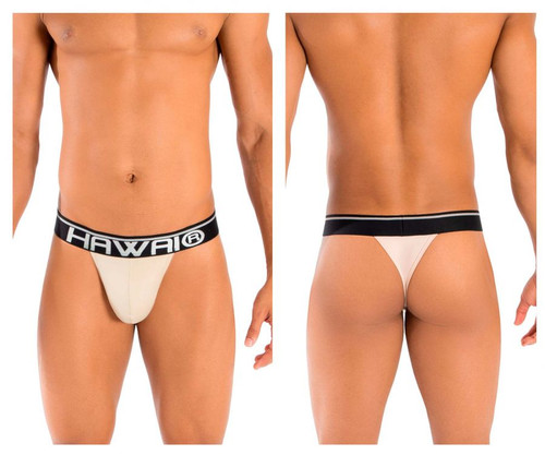 41947 Hawai Men's Solid Thong Color Pearl