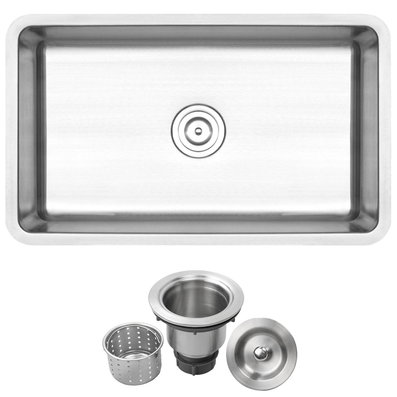 30 Ticor Sr24 18 Gauge Stainless Steel Undermount Single Basin Kitchen Sink Ticor