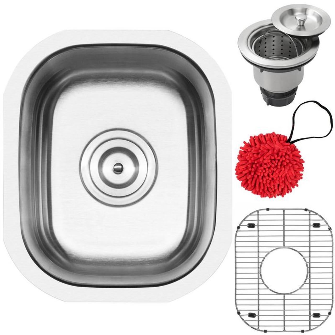 12 75 Ticor L8 Foster Series 18 Gauge Stainless Steel Undermount Single Basin Kitchen And Bar Sink Ticor