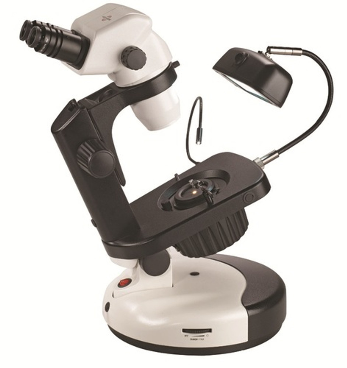 Accu-Scope 3075 Binocular Zoom Stereo Microscope on Gem Stand