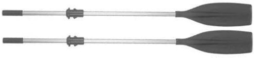 PAIR Aluminium 7 Foot Oars With Collar and soft grip handles