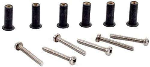 H2o M5 Neoprene Well Nut Inc Stainless Steel Pozi Screw (Pack 6) Long Type D