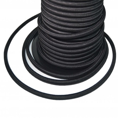 Black Heavy Monoflex ™ Duty Black Shock Cord 6mm (per 2 m)