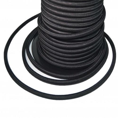 Black Heavy Monoflex ™ Duty Black Shock Cord 6mm (per 2 m)