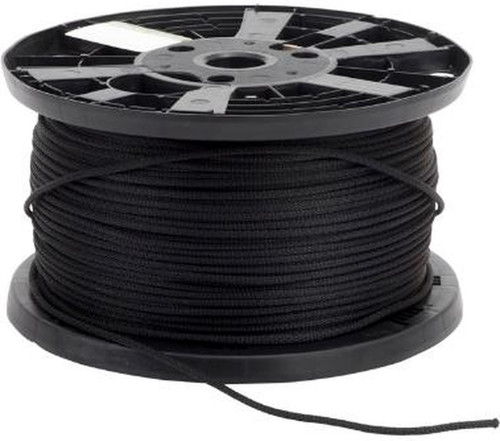 Polypropylene 8 plait 4mm  deck line (Black) price per 2 metre (running length)