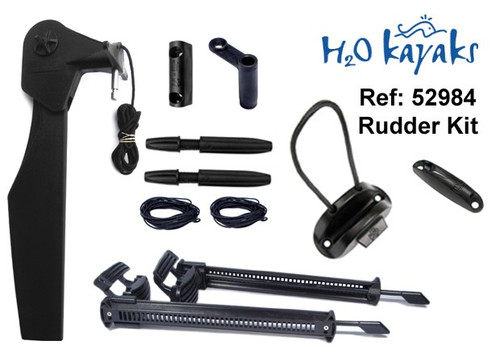 H2O Universal Kayak Rudder Kit (quick release pin)